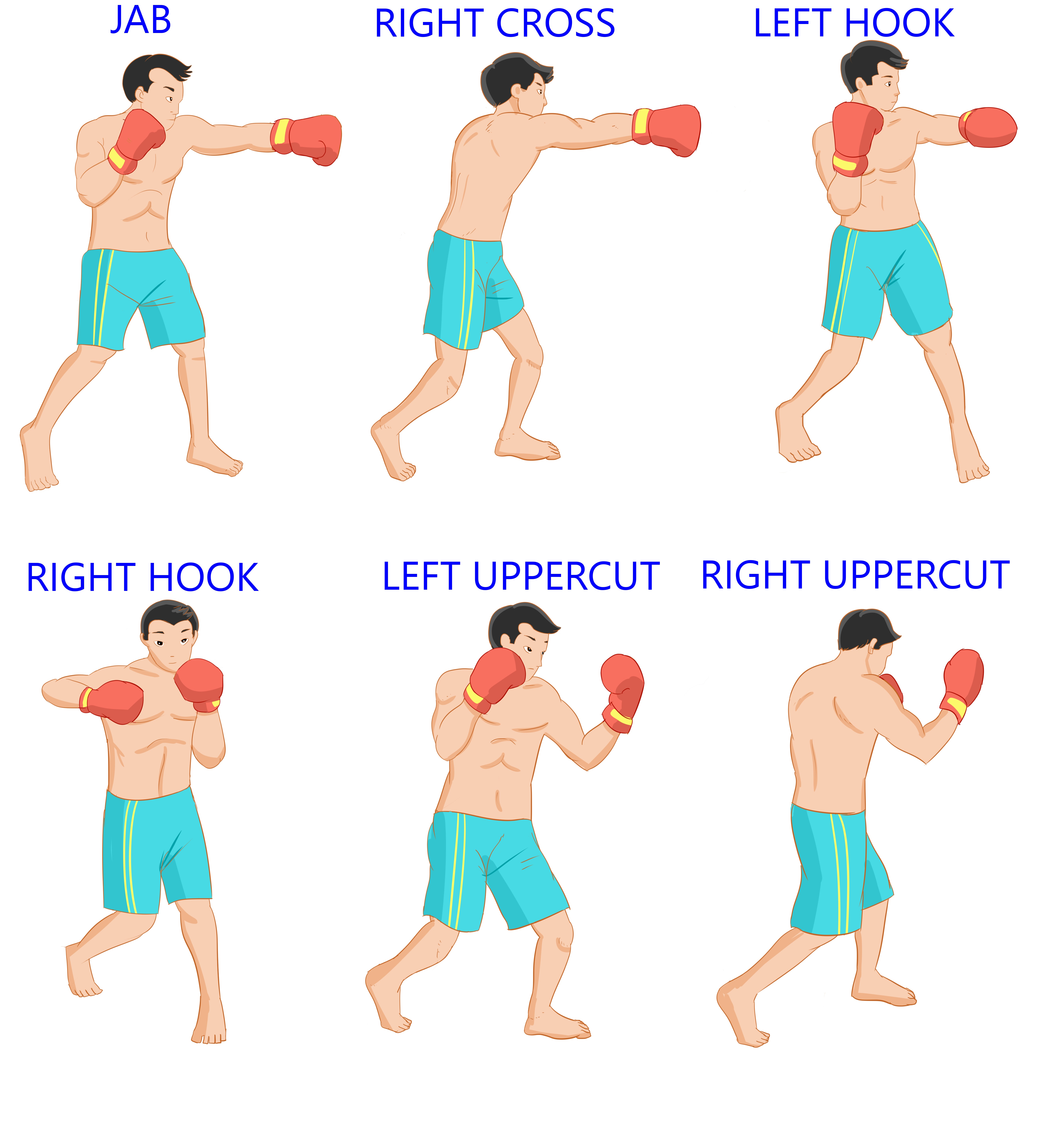Back to the Basic Punches: Naming The 6-Punch Boxing Numbering System