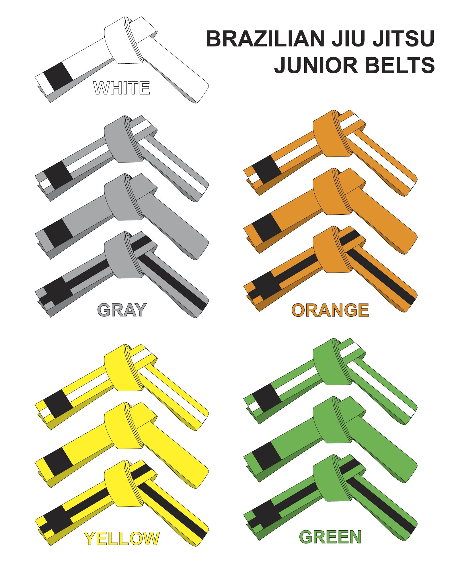 The BJJ Belt System: The Rankings Explained - gearupmma